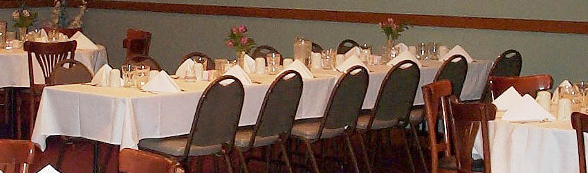 We cater banquets and large groups